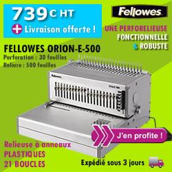Machine à relier Fellowes ORION-E-500
